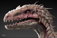 Sickly-White-Indoraptor-1-Close
