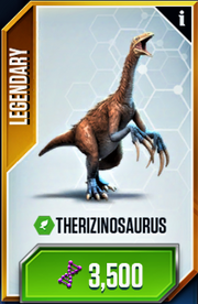 Therizinosaurus Card (clear with no sparkles)