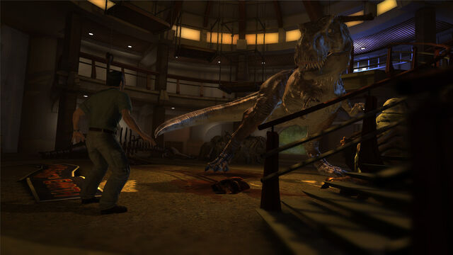 File:T-Rex in main lobby in Visitor Center JP Telltale.jpg