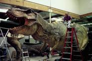 Jurassic Park III - T. rex animatronic BTS - 00001