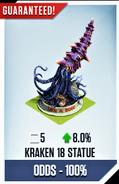 Kraken 18 Statue Card