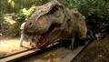 Jurassic Park III - T. rex animatronic BTS - 00006