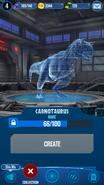 Carnotaurus Hologram JWA
