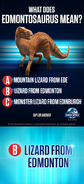 Edmontosaurus Name Quiz
