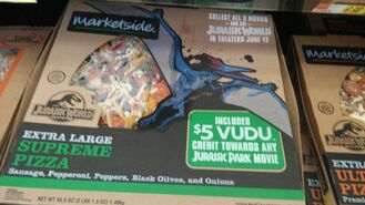 Marketside jurassic world pizza pteranodon by kaijudialga-d8tmmmf