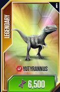 Yutyrannus card