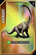 Brachiosaurus Card