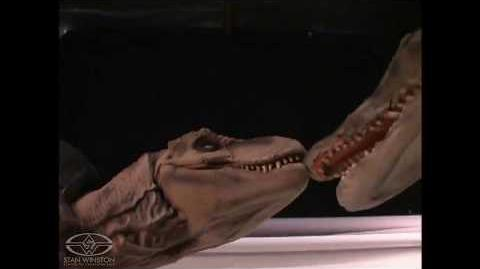 Tyrannosaurus rex vs Spinosaurus (Boceto) Stan Winston Studio Puppets-0
