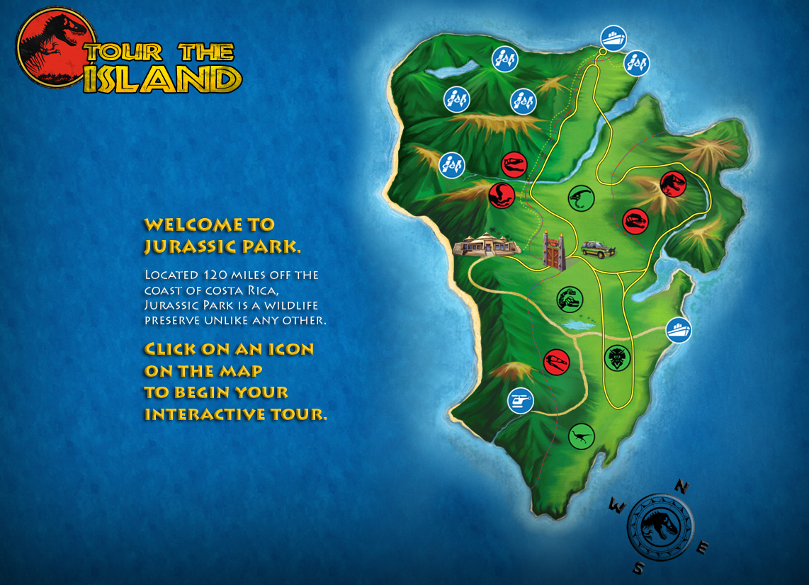Tour the island jurassic park wiki fandom powered by wikia map edit jptgmap gumiabroncs Gallery
