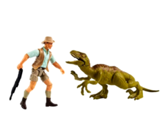 Jurassic World Mattel Robert Muldoon with JP Velociraptor
