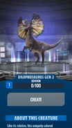 Gen 2 Dilophosaurus JWA
