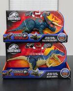 Battle at Big Rock Allosaurus and Nasutoceratops figures