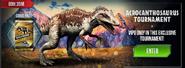 Acrocanthosaurus Tournament News