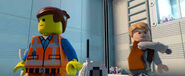 Lego Dimensions Owen Grady from Jurassic World with Emmet from The Lego Movie