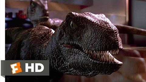 Jurassic Park (1993) - Raptors in the Kitchen Scene (9 10) Movieclips