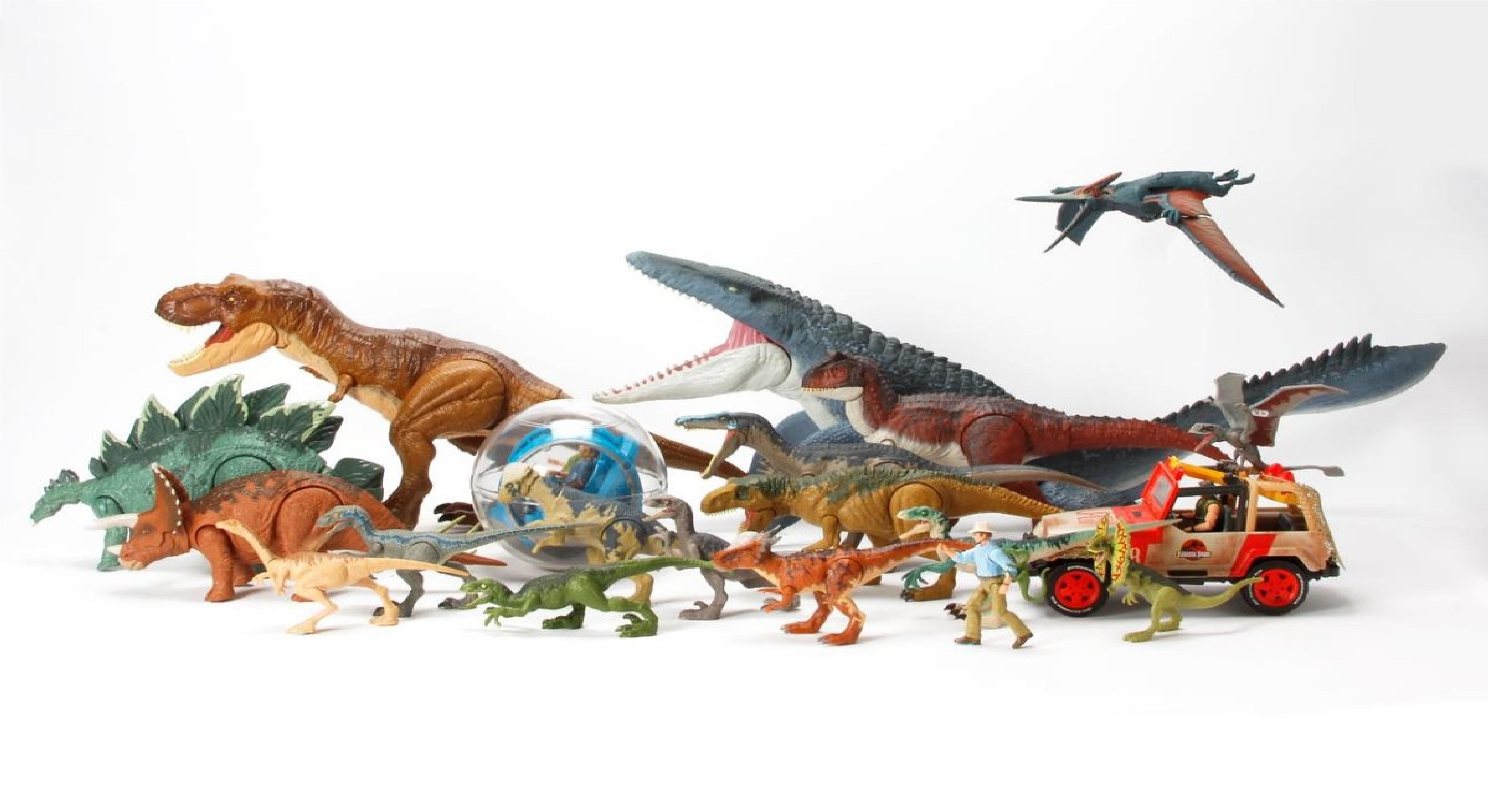 Jurassic World Fallen Kingdom Battle Damage Utahraptor Dinosaur Toy Figure T-Rex