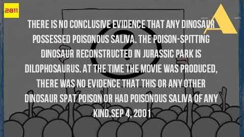 Do Dilophosaurus Spit Poison?