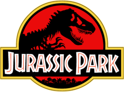 Jurassic Park Logo Black Red Yellow