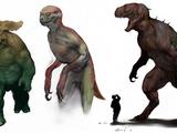 Human-dinosaur hybrid