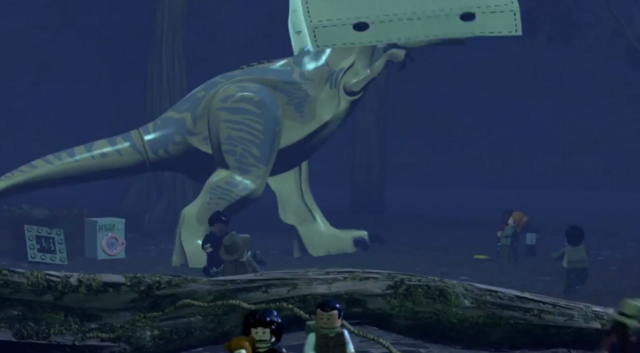 File:LEGO Jurassic World The Videogame T-rex in the tent2.PNG