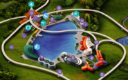 Jurassic World Lagoon online map