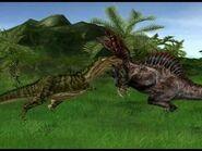 Jurassic park operation genesis death duel