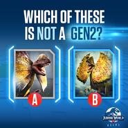 Dilophosaurus GEN 2 Quiz