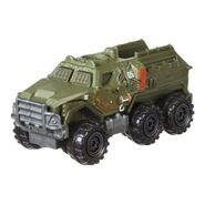 Battle damaged armored action truck