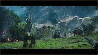 Dinosaurs running from mt sibo