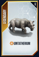 Uintatherium New Card