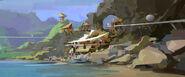 Camp Cretaceous Lodge Concept Art 3