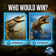 Kaprosuchus vs. Postosuchus