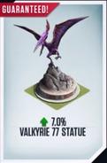 Valkyrie 77 Statue Card