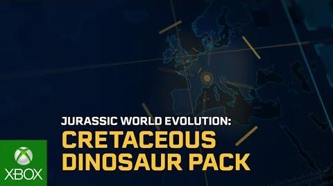 Jurassic World Evolution Cretaceous Dinosaur Pack Trailer