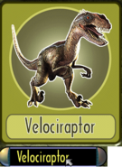 Jurassic park danger zone 5 velociraptor card by kaijudialga-d8yry03
