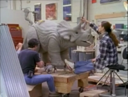 Baby Triceratops Ralph being sculpted