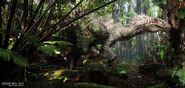 JurassicWorld IndominusRex Albino Jungle