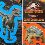 Camp Cretaceous Blue and Bumpy sticker renders