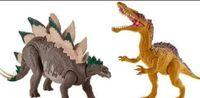 Mattel Stegosaurus and Suchomimus repaint