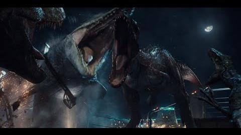 T-Rex Vs. Indominus Rex Fight 1080p Latino