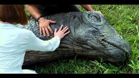 Jurassic World - Dead Apatosaurus Scene - HD 1080p