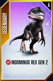 Indominus rex Gen 2 Card