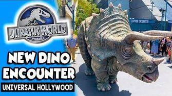 NEW Dinosaur Encounter in Jurassic World Universal Studios Hollywood