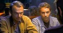 Alan et Bill au Hell Creek Bar & Grill