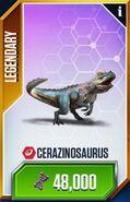 Cerazinosaur card