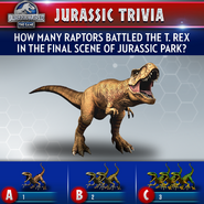 Tyrannosaurus Jurassic Trivia
