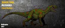 Jp the lost world novel mussaurus new art by hellraptor-d9ugl8n