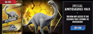 Apatosaurus Pack News