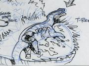 Storyboard sauropod closeup