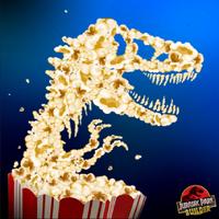 Jurassic Park logo movie popcorn